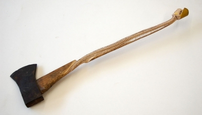 03 Secret Carpentry (2011) Carved Axe 27 x 6 x 2 inches