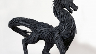 For. Horse 1, 2007, 240 x 115 x 205 cm, Used tire, synthetic resins
