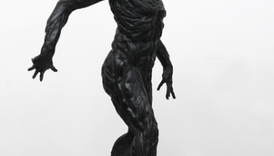 Man 1, 2011, 90 x 100 x 180 cm, Used tire, Synthetic resins, Steel