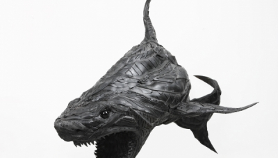 Shark 10, 2010, 140 x 300 x 130 cm, Used tire, synthetic resins