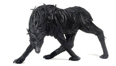 Wild dog 2, 2007, 160 x 75 x 78 cm, Used tire, synthetic resins