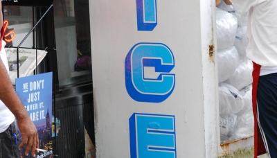 13 LIFE IS ICE COLD - Vinyl sticker installation, Brooklyn