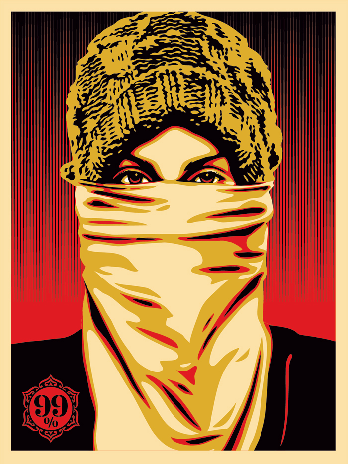Occupy Protestor (print) / Shepard Fairey / The Superslice