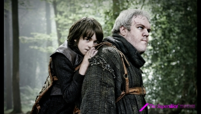 05 Bran Stark played by Isaac Hempstead Wright and Hodor by Kristian Nairn