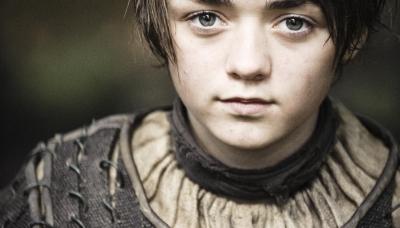 02 GoT Arya Stark (Maisie Williams). Photograph by Helen Sloan.