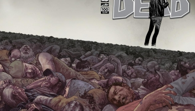 The Walking Dead #100, July 2012, cover by Charlie Adlard
