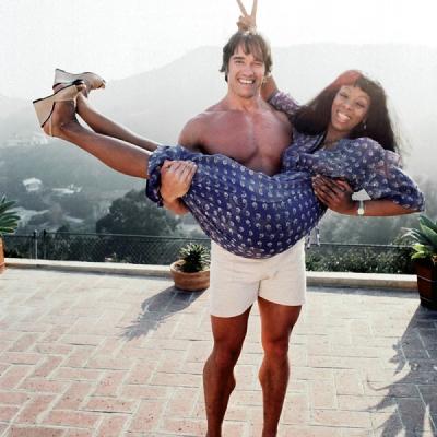 Arnold Schwarzenegger and Donna Summer