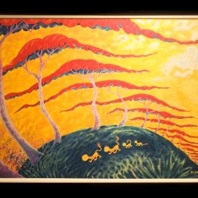 Lion Stroll 24 x 36