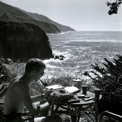 Early 02 Self Portrait, Typing, Big Sur1961