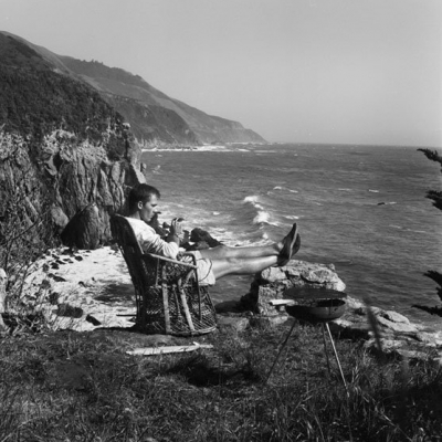 Early 06 Self Portrait, with Grill, Big Sur (HST41), circa 1960s