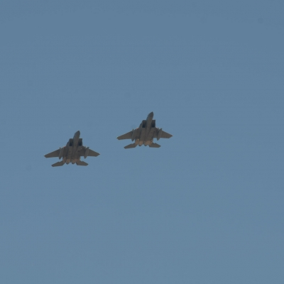 24 Oregon Air National Guard F-15s flyby