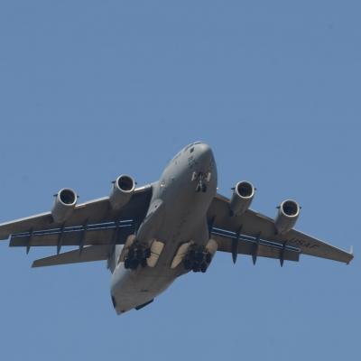 77 U.S. Air Force C-17 Globemaster III flyby