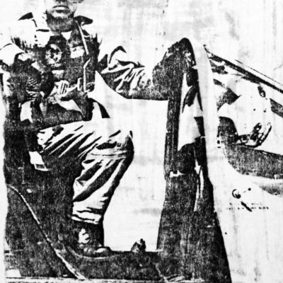 Major Van Trinh in Cockpit