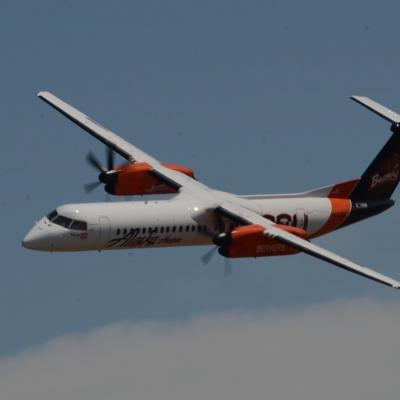 92 Alaska Airlines Oregon State University Q400 Flyby