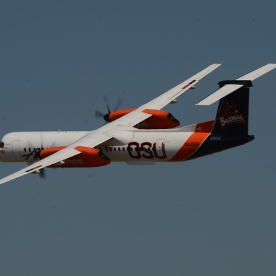 93 Alaska Airlines Oregon State University Q400 Flyby