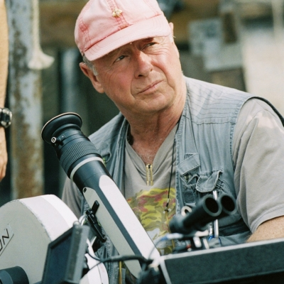Tony Scott on the set of Deja Vu (2006)