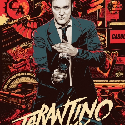 Tarantino XX box art by Ken Taylor