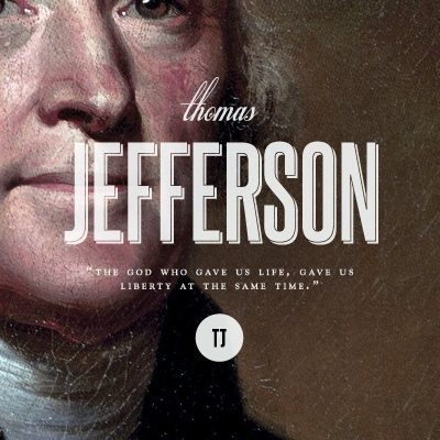 Third President Thomas Jefferson (1743-1826)