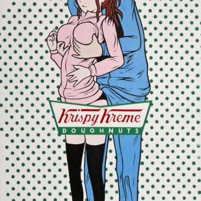 """Krispy Kreme, Acrylic on Canvas, 70x36"""""""