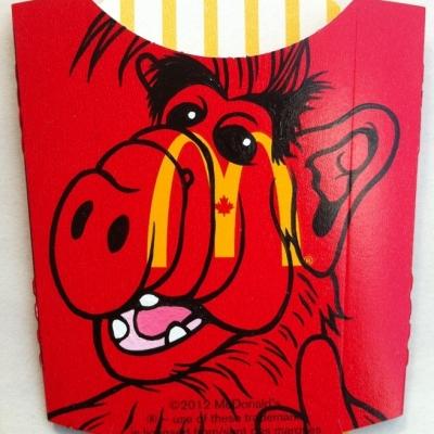 """Big Mel Mac, Acrylic on Found Product Packaging, 7x8"""" Framed"""