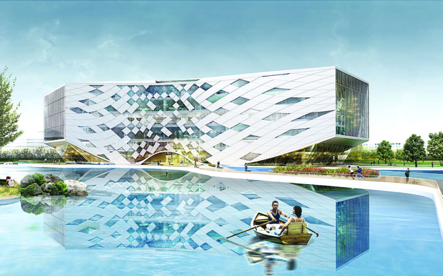 Jiaxing college library and media center lycs for J j school of architecture