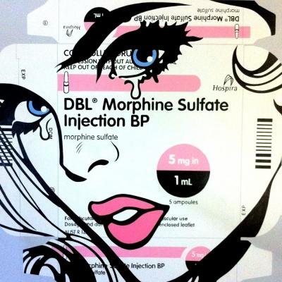 "Morphine Lover, Acrylic on Canvas, 50x50"""