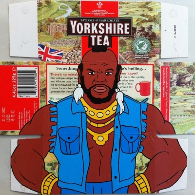 "Yorkshire Tea, Acrylic on Found Product Packaging, 14.5x13"" Framed"