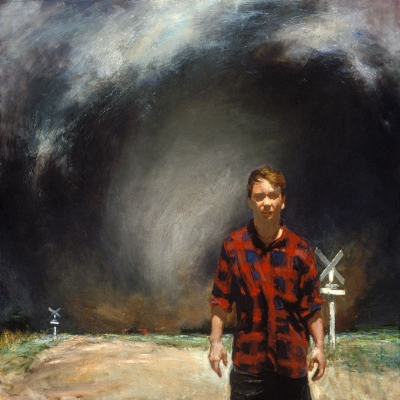 Harbinger (Self-Portrait) 48 x 48 1995 © John Brosio
