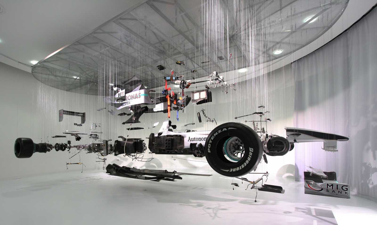 View suspended ii mercedes gp petronas f1 deconstructed for Mercedes benz f1 car