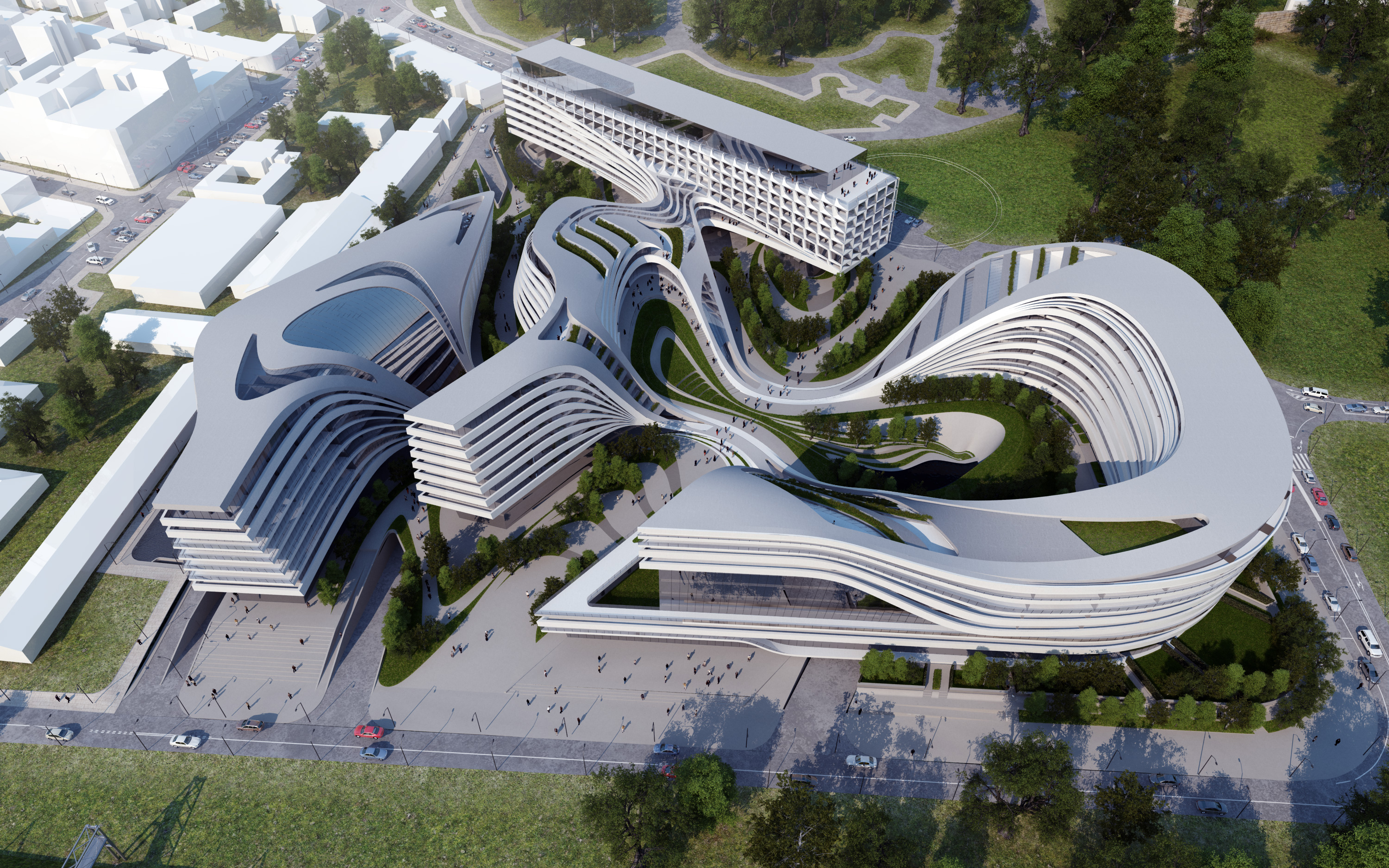 Beko masterplan belgrade zaha hadid architects the for Modern architecture concept