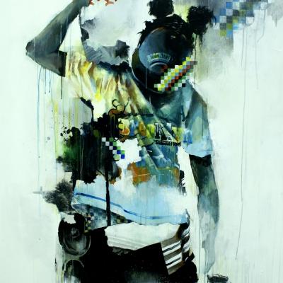 2008 - Brooklyn Carnaval 140 x 200 cm oil and acrylics on canvas