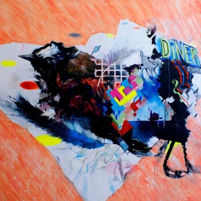 2010 - Linkervoet op geel Oil on canvas 300 x 200 cm