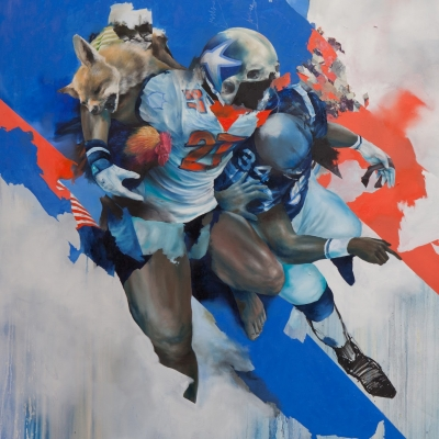 2012 - Touchdown 170 x 190 cm oil on canvas