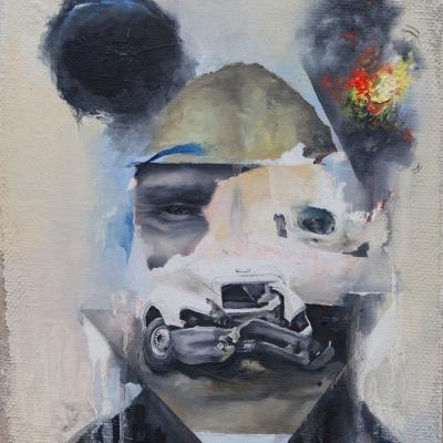 2012 - Wreckface #1 24 x 30 cm oil on canvas