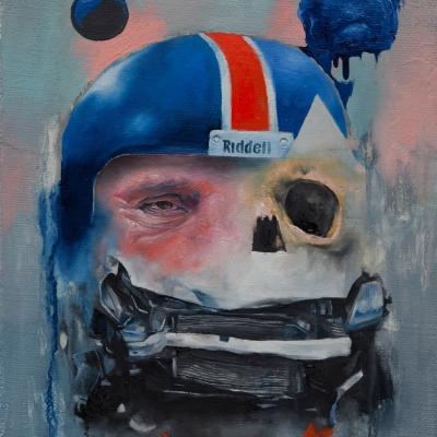 2012 - Wreckface #2 35 x 45 cm oil on canvas