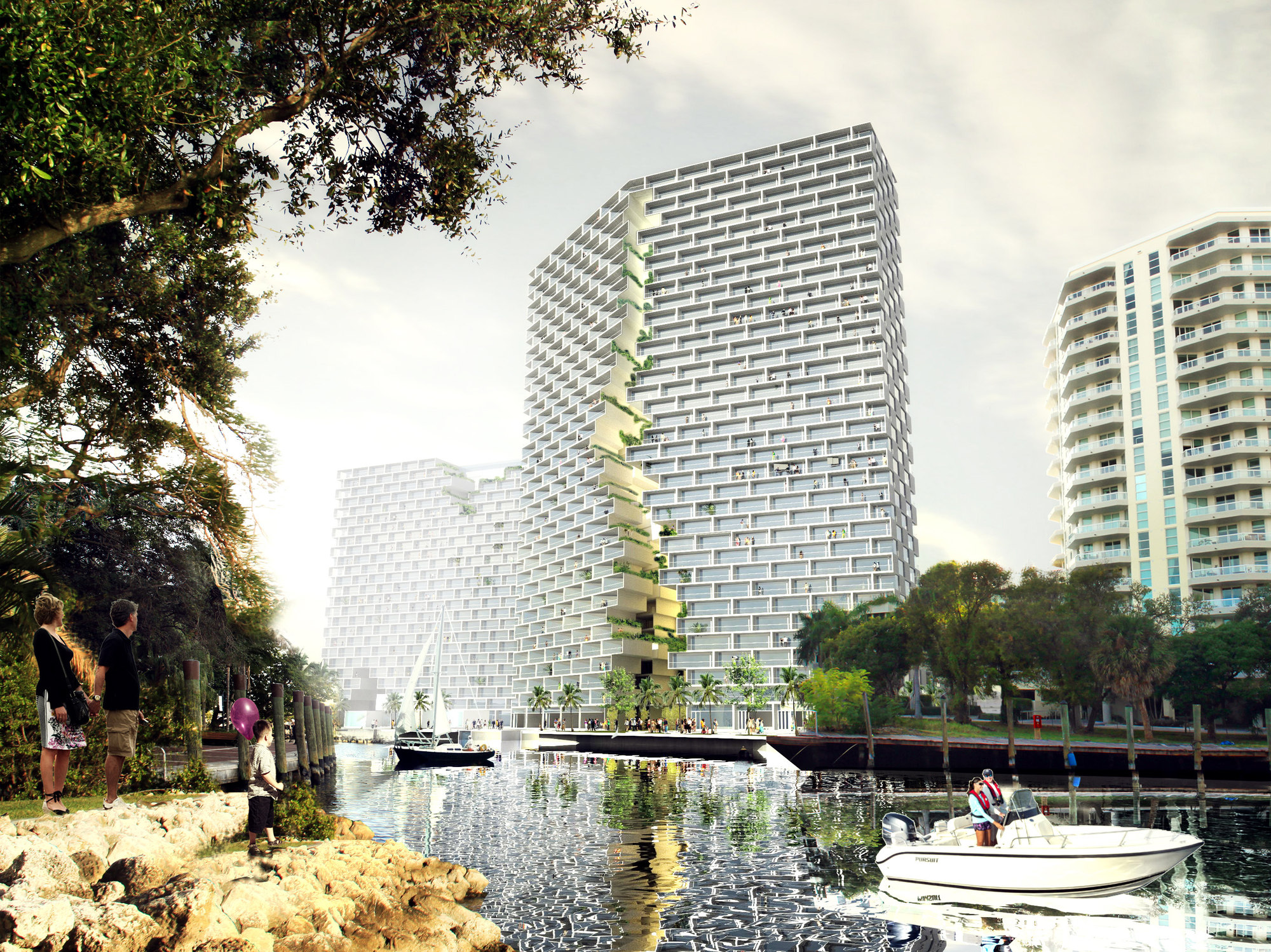 Marina lofts bjarke ingels group big the superslice Architect florida