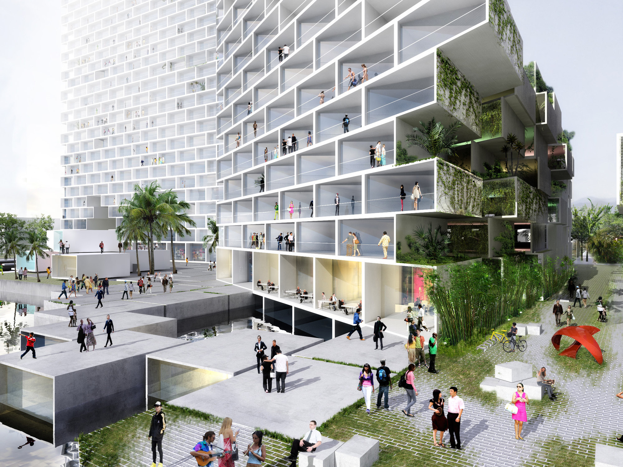 Marina lofts bjarke ingels group big the superslice for Big bjarke ingels group