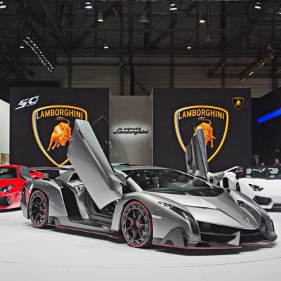 01 Lamborghini Booth - Geneva Motor Show 2013