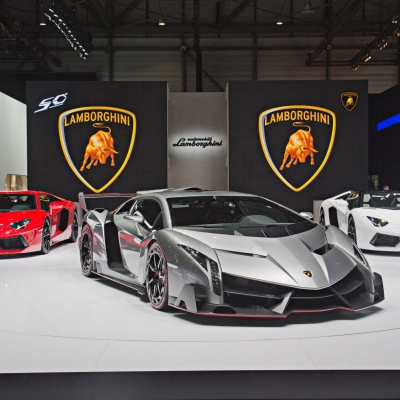 03 Lamborghini Booth - Geneva Motor Show 2013