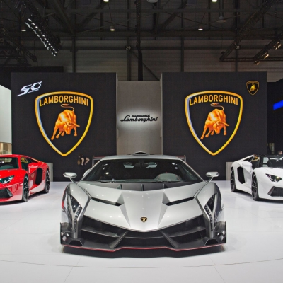 04 Lamborghini Booth - Geneva Motor Show 2013