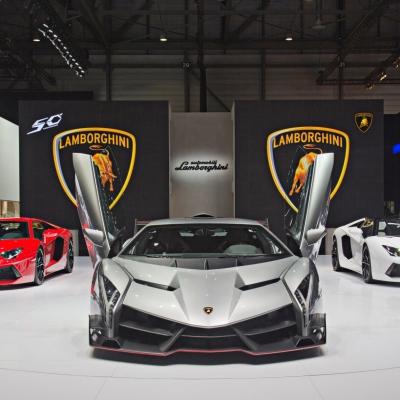 05 Lamborghini Booth - Geneva Motor Show 2013