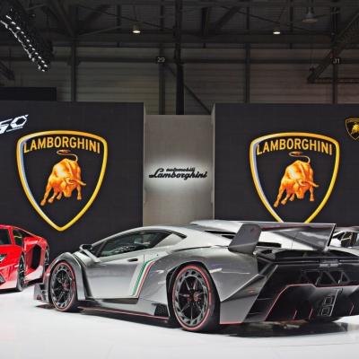 09 Lamborghini Booth - Geneva Motor Show 2013