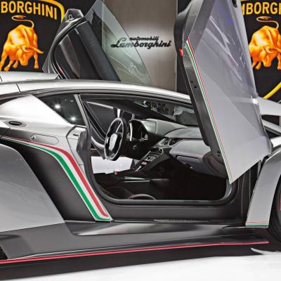 12 Lamborghini Booth - Geneva Motor Show 2013