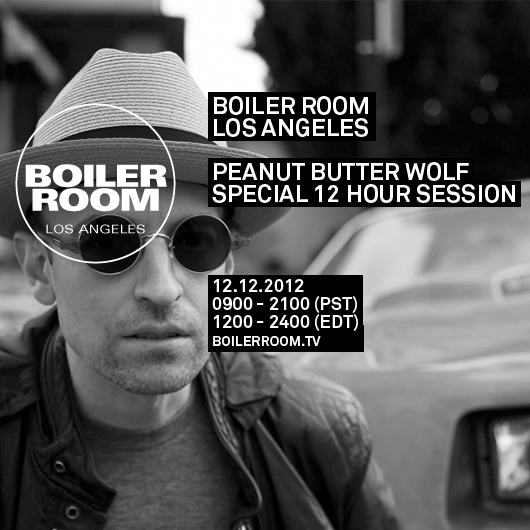 Soundsystem 12 12 12 Mix Peanut Butter Wolf The