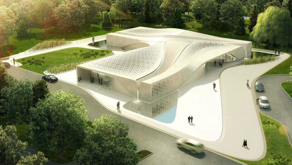 Beukenhof auditorium and crematorium asymptote for Form architecture