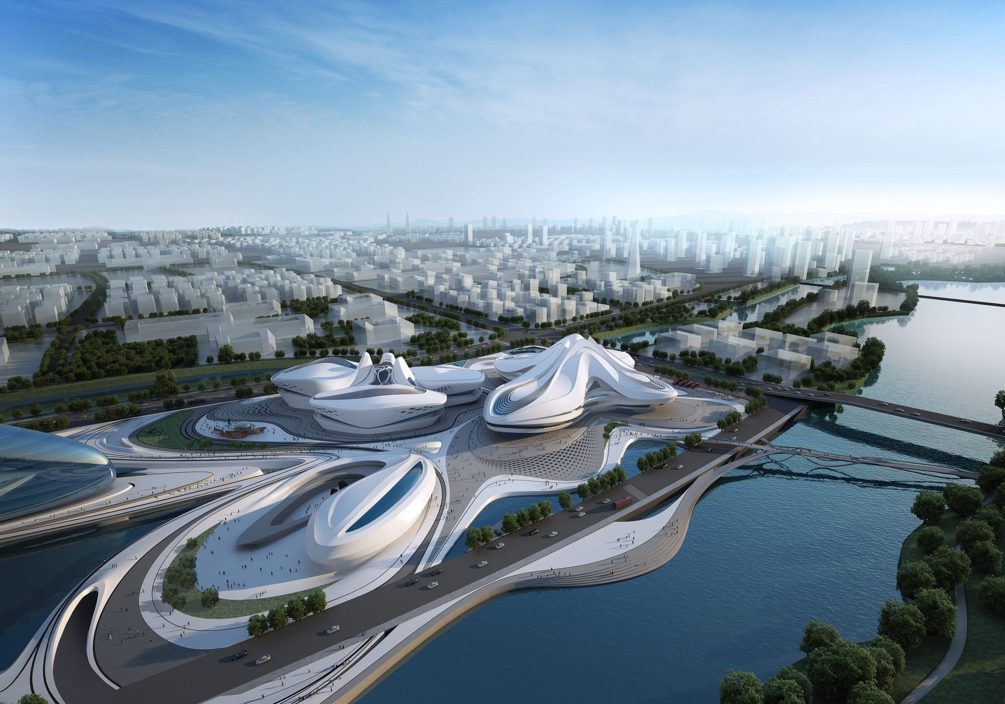 Changsha meixihu international culture art centre zaha for Architecte 3d wiki