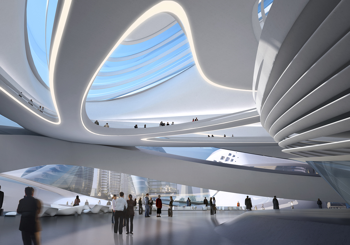 Changsha meixihu international culture art centre zaha for Architecture zaha hadid