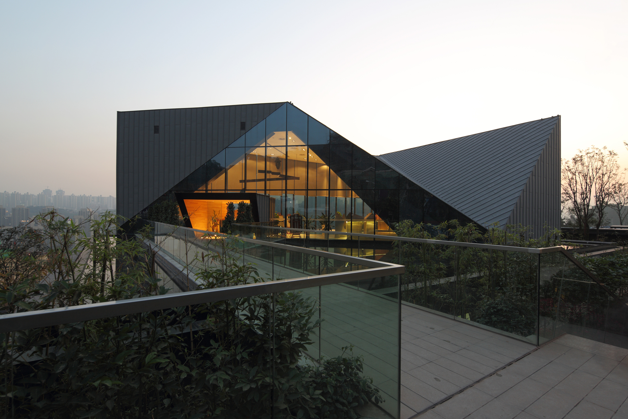 Chongqing greenland clubhouse pure architecture the for Pure home designs
