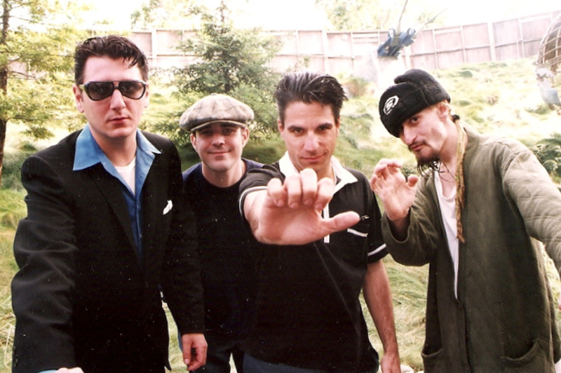 WAX backstage at Shoreline Amphitheatre in Mountain View, CA. 1995.