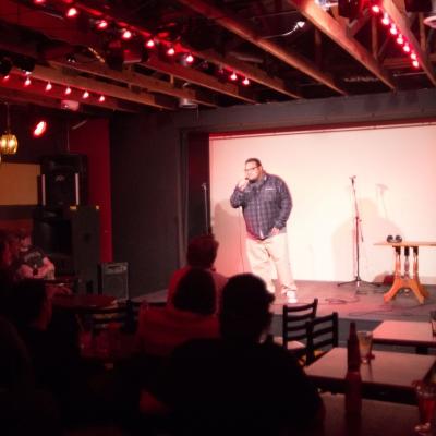 The MC of the night, Comedian Adam Pasi